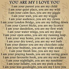 You Are My I Love You! I use to read this book to my son every night.