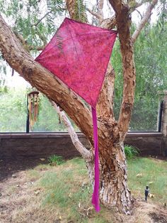 A personal favorite from my Etsy shop. Boho style kite. One-of-a-kind gift. Made with hand printed batik fabric from Bali. Purple & red.  https://www.etsy.com/listing/277193054/limited-edition-handmade-kite-flying