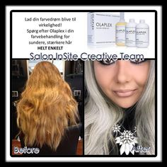 Before & After bleaching, and color with Elumen from Goldwell, and of course with Olaplex