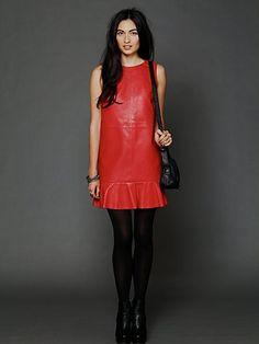 Leather Dropwaist Shift  http://www.freepeople.com/whats-new/leather-dropwaist-shift-dress/