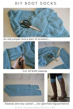 Easy DIY Boot Socks.