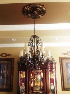 Spring Dreams - FAD Hand Painted Ceiling Medallion - Decorative Ceiling Tiles, Inc. Ceiling Tiles, Ceiling Fan, Ceiling Lights, Electric Box, Ceiling Medallions, Metallic Colors, Vinyl Flooring, Interior And Exterior, Light Fixtures