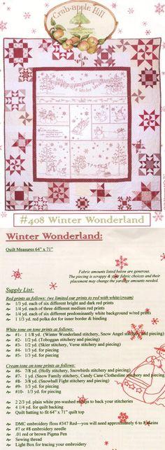 A redwork christmas quilt