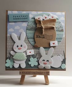 Baby Bunnies, Bunny, Marianne Design Cards, Dyi, Cardmaking, Easter, Frame, Babies, Tags