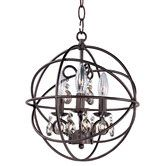 $139.99 14H x 12Dia 3lights, but no wattage given, 3' of chain supplied. Found it at AllModern - Orbit 3-Light Pendant