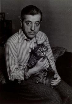 Jacques Prévert with French cat