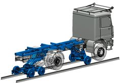 Rail drive unit with 1 front axle and rear bogie (18t)