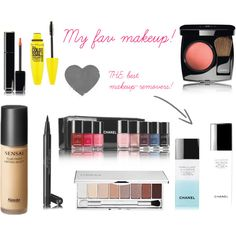My fav makeup! by frustandal on Polyvore featuring beauty, Chanel, Clinique, Maybelline and Kanebo