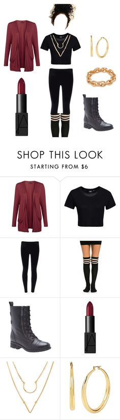 """""""A Taste of Burgundy"""" by thenotoriousmad on Polyvore featuring Dr. Denim, Lane Bryant, NARS Cosmetics, Kenneth Cole and Leslie Danzis"""