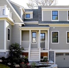 Absolutely considering paining my windows black to update the house once we get the trim freshened up. Black windows with white trim Black Windows Exterior, Black House Exterior, Exterior Paint Colors For House, Grey Exterior, Interior Windows, Exterior Design, Exterior Colors, Exterior Houses, Interior Trim