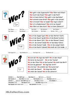 43 best W - Fragen images on Pinterest in 2018 | German grammar ...