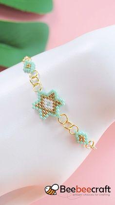 Diy Crafts Jewelry, Handmade Beaded Jewelry, Beaded Jewelry Patterns, Bracelet Crafts, Handmade Bracelets, Beaded Bracelets, Bijoux Diy, Bead Jewellery, Diy Earrings