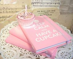 Keep Calm & Eat a Cupcake Notebook - This is the little book I have to write all my top cupcake recipes in there.