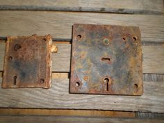 Vintage Door Lock Boxes large set of 2 by rustyitems on Etsy