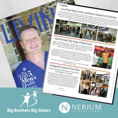 Thank you Living Magazine for featuring our work with #BBBS.  ginatrevino.nerium.com