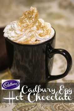 Easy Cadbury Egg Hot Chocolate