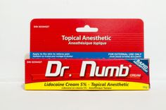 Dr. Numb is a topical anesthetic numbing cream for painless tattooing, waxing, laser hair removal, laser tattoo removal, needle injections, ...
