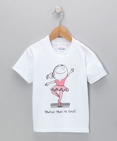 Showcasing a love for dance, this casual tee features a breathable cotton blend, playful graphic and relaxed fit. 50% cotton / 50% polyesterMachine wash; tumble dryMade in the USA