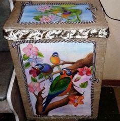 Реставрация и переделка старой корзины для белья своими руками   Самошвейка - сайт для любителей шитья и рукоделия