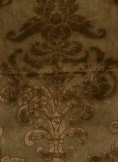 Tone on Tone Mocha Embossed Damask Faux Suede Microfiber Upholstery Fabric | eBay