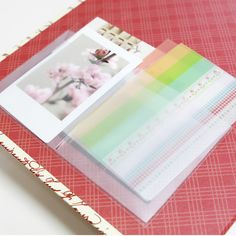 Small Diary Pocket Sticker Perfect for washi tape, sticky notes, etc.