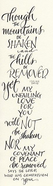 Isaiah 54:10 (by carmelscribe)