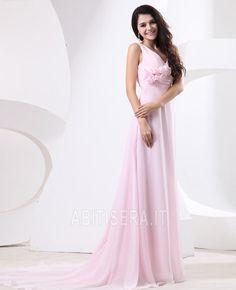 Abito da sera Impero Magro Cerniera Spiaggia A Terra Pieghe Cute Wedding  Dress f0034c4001d