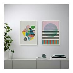 TVILLING Poster, set of 2 IKEA Motif created by Sophie Ledesma and Joni Whyte. You can personalize your home with artwork that expresses your style. Perspective Art, Ikea Us, Design Your Life, Affordable Furniture, Home Staging, Large Prints, Living Room Furniture, Home Furnishings, Playroom