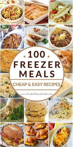 100 Cheap & Easy Freezer Meals, just think of all the nights without major cooking projects to get to dinner. Freezer Friendly Meals, Slow Cooker Freezer Meals, Make Ahead Freezer Meals, Frugal Meals, Quick Meals, Freezer Cooking, Freezer Recipes, Budget Cooking, Crockpot Meals