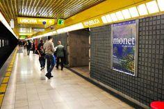Monet colora la metropolitana di Milano