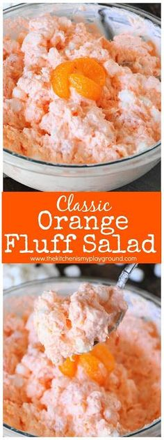 Classic Orange Fluff {aka Orange Pineapple Salad} ~ This creamy comfort food fluff is classic for a reason ... because it's just plain good! #orangefluff #orangepineapplesalad #fluff #fluffsalads www.thekitchenismyplayground.com