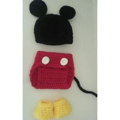 Crocheted Mickey photography prop