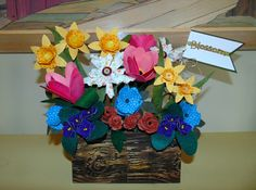 Fabric/paper flower display