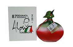 La mitica bottiglia della grappa  creata dalla distilleria Pagura per 87 Adunata Alpini di Pordenone 2014