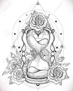 am aktuellsten Bildschirm sanduhr Zeichnung diy mich Decorative antique hourglass with roses illustration isolated on white. Sketsch for dotwork tattoo, hipster t-shirt design, vintage style posters. Coloring book for adults. Cute Tattoos, Body Art Tattoos, New Tattoos, Sleeve Tattoos, Hourglass Drawing, Hourglass Tattoo, New Tattoo Designs, Tattoo Design Drawings, Tattoo Outline Drawing