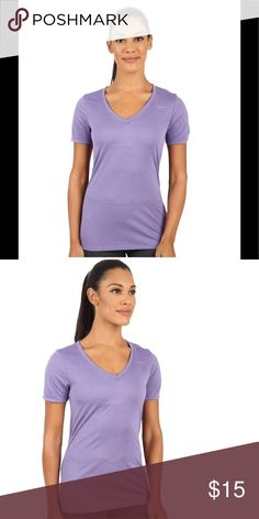 Nike Legend V-Neck 2.0 Short Sleeve Shirt T-Shirt New with tags Women's Nike Legend V-Neck 2.0 short sleeve tee. Dri-Fit and Stay Cool technology. Dusty purple color. Nike Tops Tees - Short Sleeve