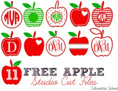 11 Free Apples Studio Files (Silhouette Project Idea) ~ Silhouette School