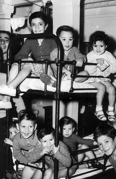 AUGUST 1948: Children from Poland and Malta pictured in the on-board dormitories for the P & O liner Srathnaver, en route to Melbourne. Picture: Herald Sun Image Library/ ARGUS