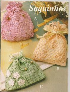 Artesanato e Cia : saquinhos em crochê(Gráfico)