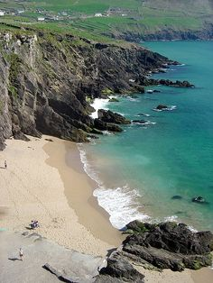 Beach on the Dingle Peninsula, Ireland.  I took this photo during our trip in 2007.  It was so gorgeous there!