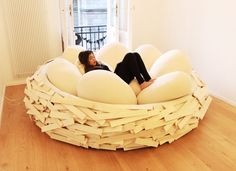 The Giant Birdsnest for Creating New Ideas: A Perfect Mix between Furniture and Playground