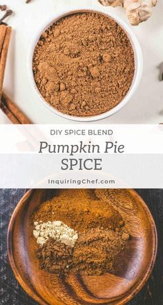 Pumpkin Pie Spice can be used in more than just pie! Learn how to make this unique, savory spice mix that is great in quick breads, cookies, cake, and many other baked goods. | Inquiring Chef  #fallbaking #pumpkinrecipe #fallrecipe #spiceblend