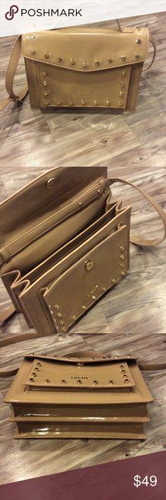Liu-Jo European tan handbag Liu-Jo tan handbag with gold studs. Purchased in Paris Bags