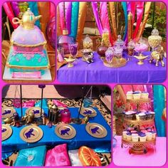Sweet Details by Karla's Birthday / Arabian/Aladdin Theme - Princess Jasmine's Birthday Party at Catch My Party Jasmin Party, Princess Jasmine Party, Disney Princess Party, Princess Birthday, Aladdin Birthday Party, Aladdin Party, 10th Birthday Parties, Birthday Party Themes, 5th Birthday