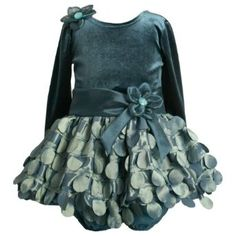 Amazon.com: Bonnie Jean Baby/INFANT 12M-24M 2-Piece TEAL-BLUE VELVET CIRCLE DIECUT BUBBLE SKIRT Special Occasion Flower Girl Holiday Pageant Party Dress: Baby