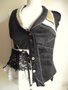 NaturallyBohemian: Dickens vest  I like the left side collar