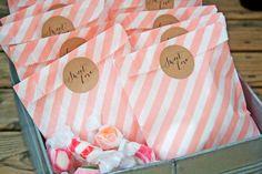 Medium Sweet Love Sticker Seals  Wedding Favor Bag by mavora, $5.50