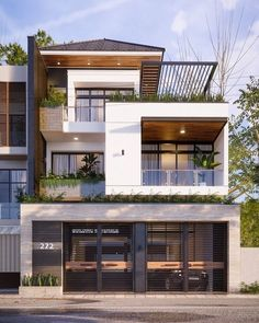 The exterior is the face of the house that everyone will see in the first part. Take a look at the world's most beautiful modern homes and find Modern Small House Design, Modern Exterior House Designs, Modern House Facades, Modern Villa Design, Design Exterior, Minimalist House Design, Indian House Designs, Indian House Exterior Design, Modern Bungalow Exterior