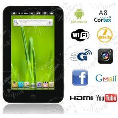 """7"""" Vimicro VC882 V7 Android 2.3 Tablet PC (Personal Computers)"""