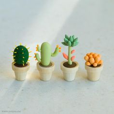cactus polymer clay plants I can keep alive!!!!!